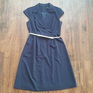 Ellen Tracy Sleeveless Collared Dress